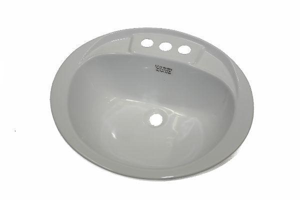 Lavatory Sink 17x20 Plastic no Overflow