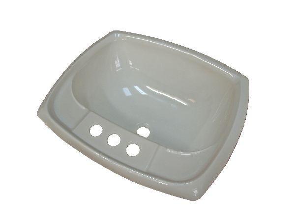 Rectangular 17x20 White Lavatory Sink Plastic