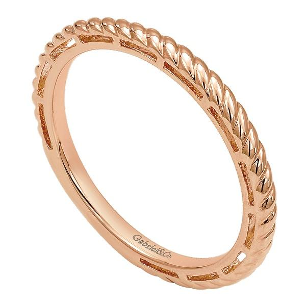 14k Pink Gold Stackable  Ladies Ring