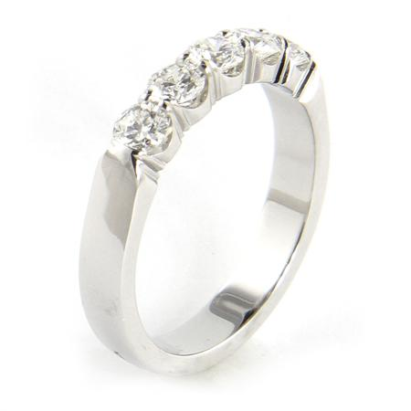 Hayden 14k  Diamond shared prong Anniversary band