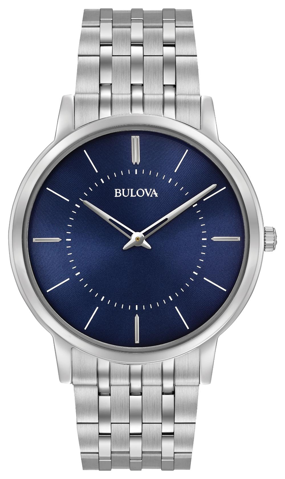 Bulova Mens Ultra Slim Silver Steel Bracelet Watch