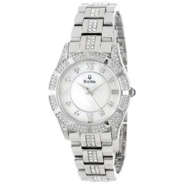Bulova 96L116 Ladies Watch Swarovski Crystal Stainless Steel