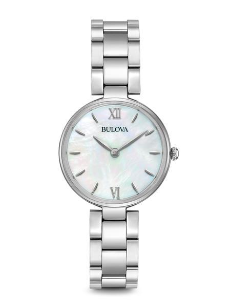 Bulova Womens Quartz Stainless Steel Casual Watch