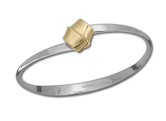 Love Knot Sterling Silver with 14k Bangle