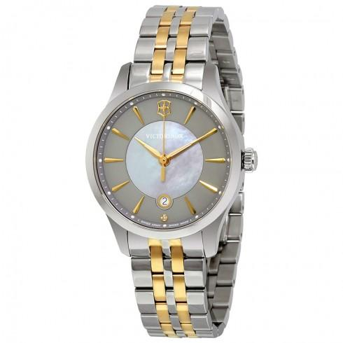 Swiss Army Alliance Grey Dial Two-tone Ladies Watch
