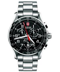 Victorinox Swiss Army Mens  Classic Black Chronograph Dial Watch