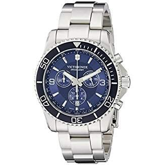 Victorinox Swiss Army Mens Maverick Chronograph Stainless Steel Watch