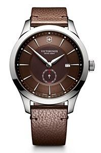 Victorinox Alliance Brown Dial Brown Leather Mens Watch