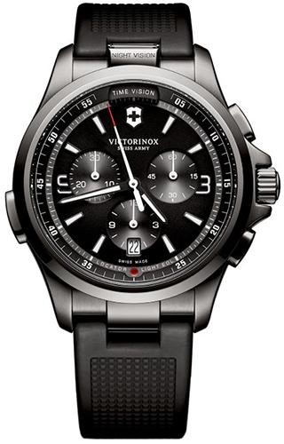 Victorinox Swiss Army  Mens Chronograph Night Vision Watch