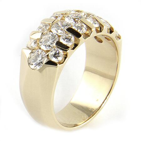 "Hayden Design 14k Yellow Gold Diamond ""WOW"" Ring"