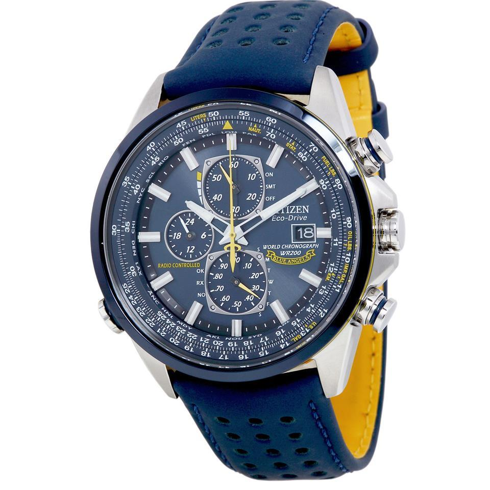 Citizen Mens Blue Angels World A-T Eco-Drive Watch