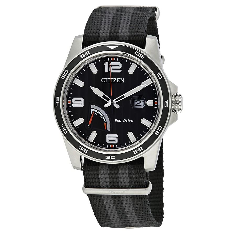 Citizen Eco-Drive Mens PRT Striped Watch