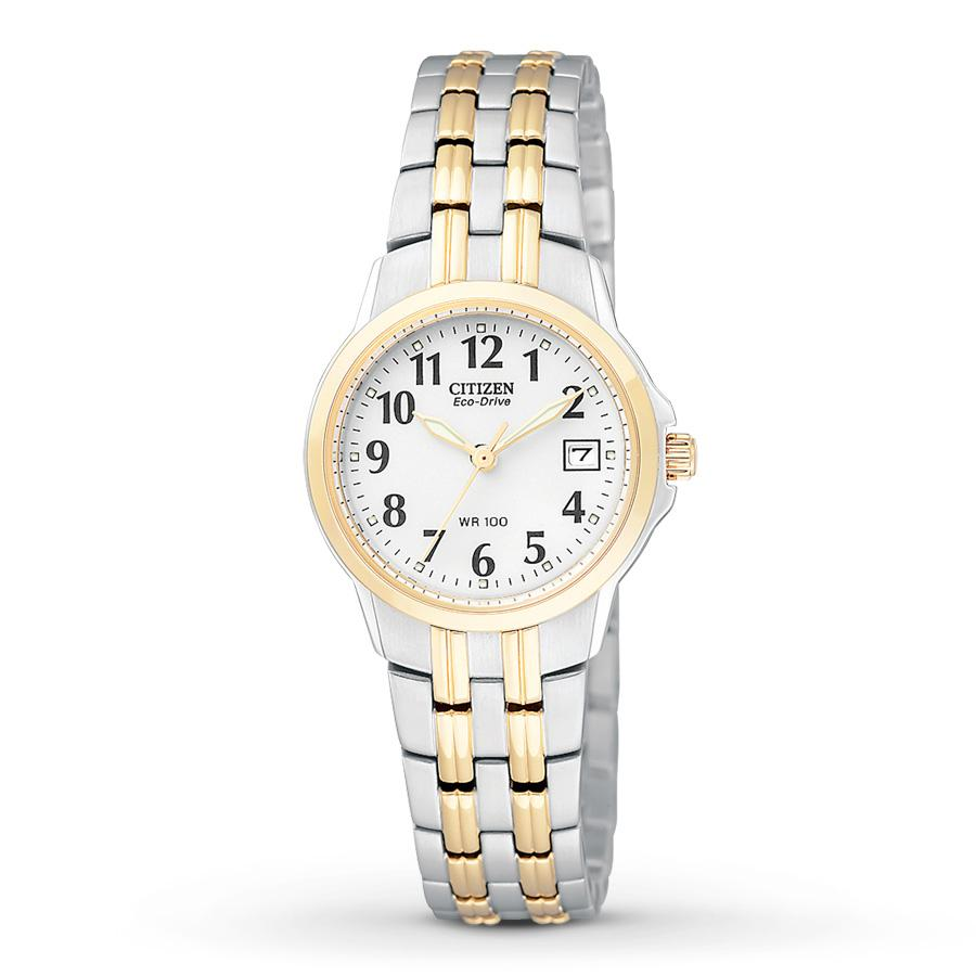 Citizen Eco-Drive Womens Silhouette Two-Tone Stainless Steel Watch