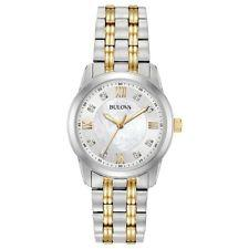 Bulova Ladies Two-Tone 8-Diamond Mother of Pearl Watch
