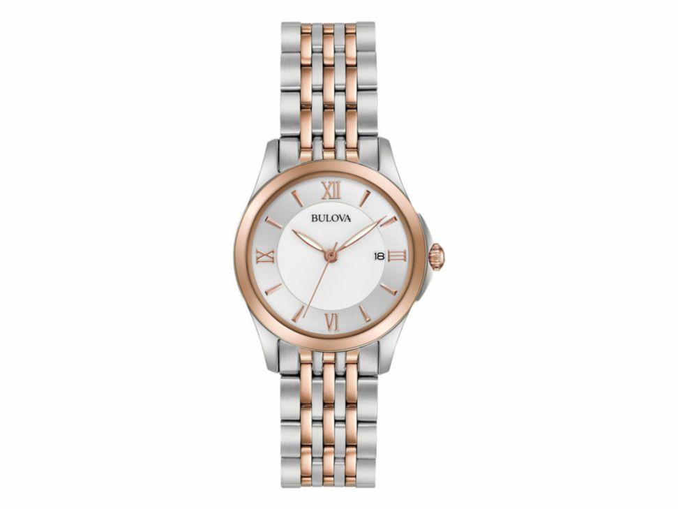 Bulova Womens Classic Two-Tone Mother Of Pearl Dial Watch