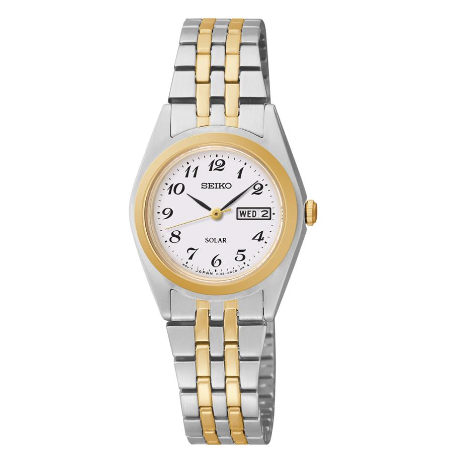 Seiko Womens Stainless Steel Two-Tone Watch