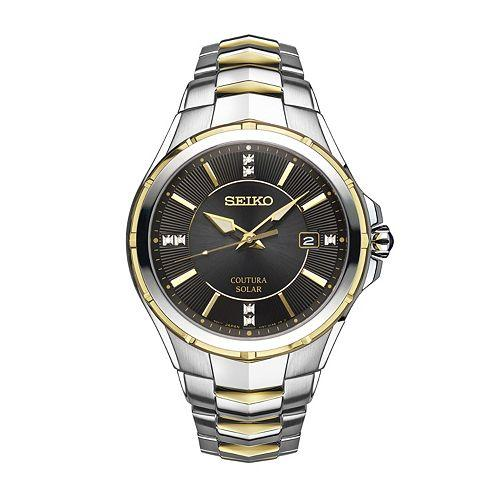 Seiko Mens Coutura Quartz Stainless Steel Casual Watch