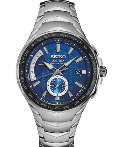 Seiko Mens Coutura Stainless Steel Radio Sync Solar Watch