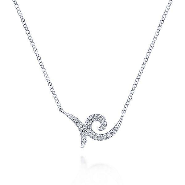 14k White Gold Fashion Diamond Necklace