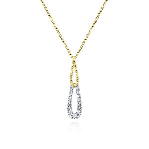 14k Yellow/white Gold Fashion Diamond Necklace