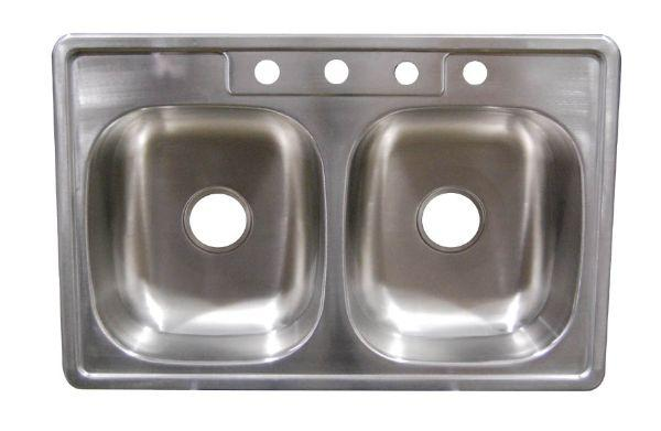 Stainless Steel 33 x19 x 7 Kitchen Sink