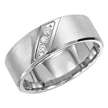 TUNGSTEN DIAMOND BAND 8MM