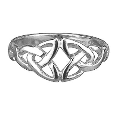 Sterling Silver DoubleTrinity Ring