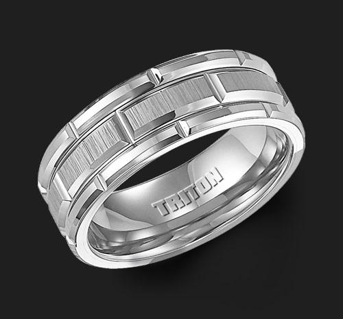 TUNGSTEN BRUSHED BAND WITH CUTS