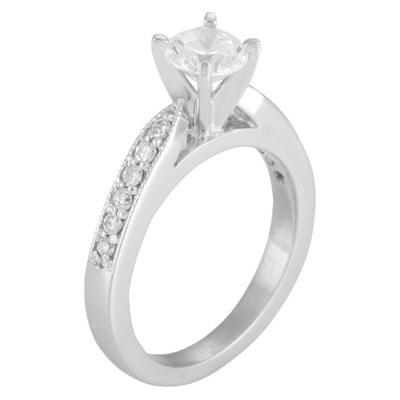 14k White Gold and Diamond Semi-Mounting