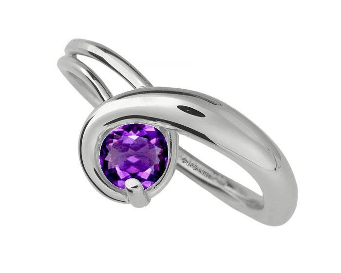 Gem Elegance Ring with Ameythst