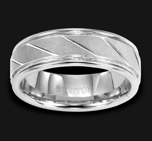 TUNGSTEN DIAMOND CUT WEDDING BAND