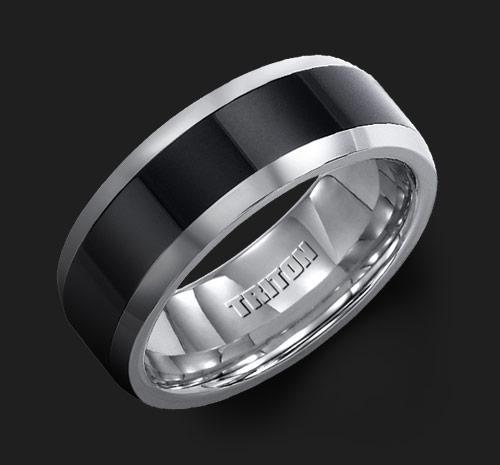 TUNGSTEN/CERAMIC WEDDING BAND