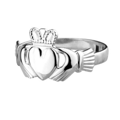 Mens Standard Sterling Silver Claddagh Ring