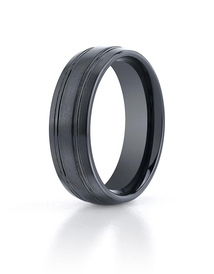 Seranite 7mm Wedding Ring by Benchmark.
