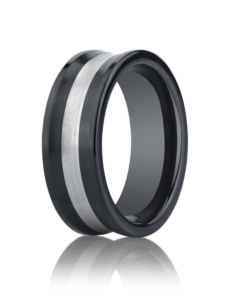 Seranite 8mm Wedding Ring by Benchmark.