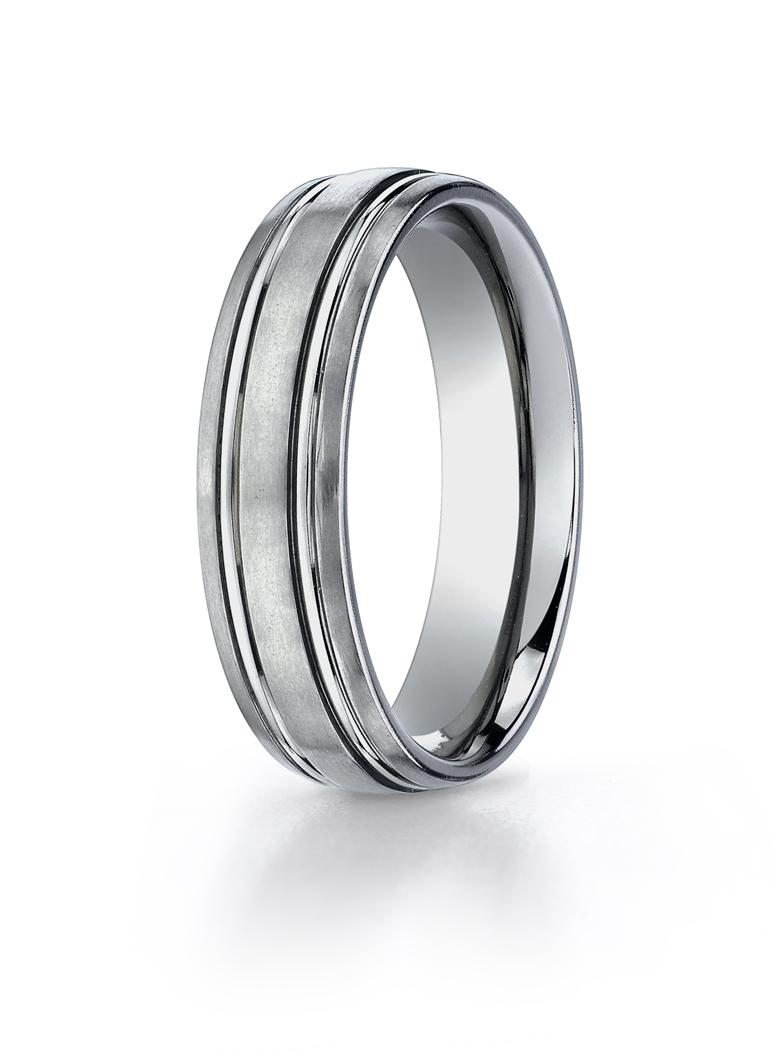 Titanium 6mm Wedding Ring by Benchmark.