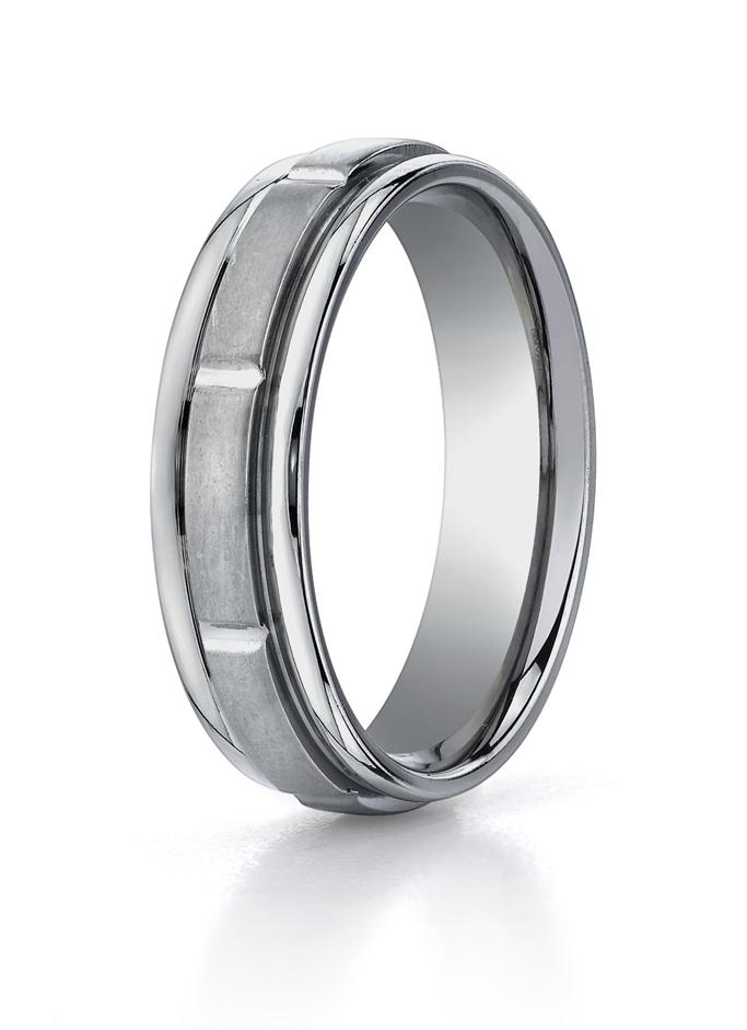 9dc97c7020d Titanium 6mm Wedding Ring by Benchmark.