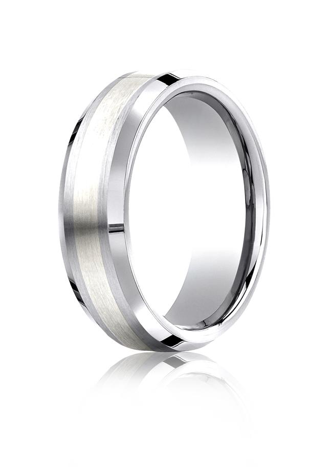 Cobalt chrome 7mm Comfort-fit Band by Benchmark