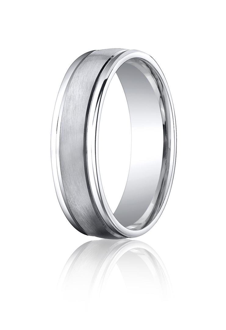 Cobalt chrome 6mm Comfort-fit Band by Benchmark