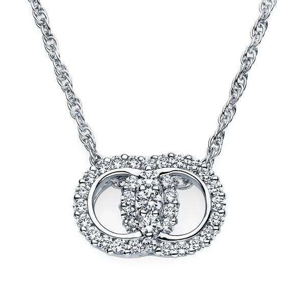 14k White Gold Marriage Pendant 1.00ct