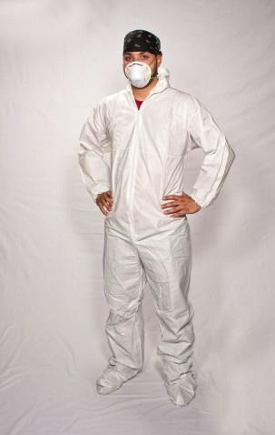 Disposable Coveralls with Hood and Boots  PLEASE INDICATE SIZE(Med/large/xlg/2xl/3xl)
