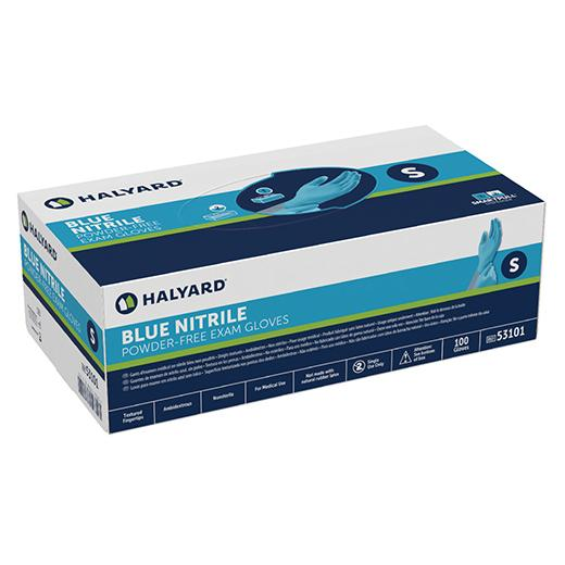 SAFESKIN Blue Nitrile Powder Free Exam Gloves