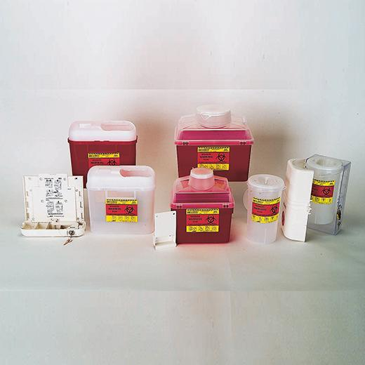 B-D Multi-Use Nestable Sharps Containers/Wall Brackets