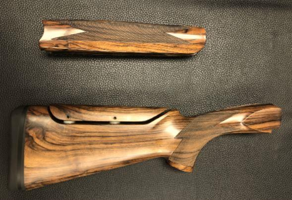 WENIG 12 GAUGE MX MODELS WITH DROP OUT TRIGGER STOCK AND FOREND WOOD SET - PREOWNED