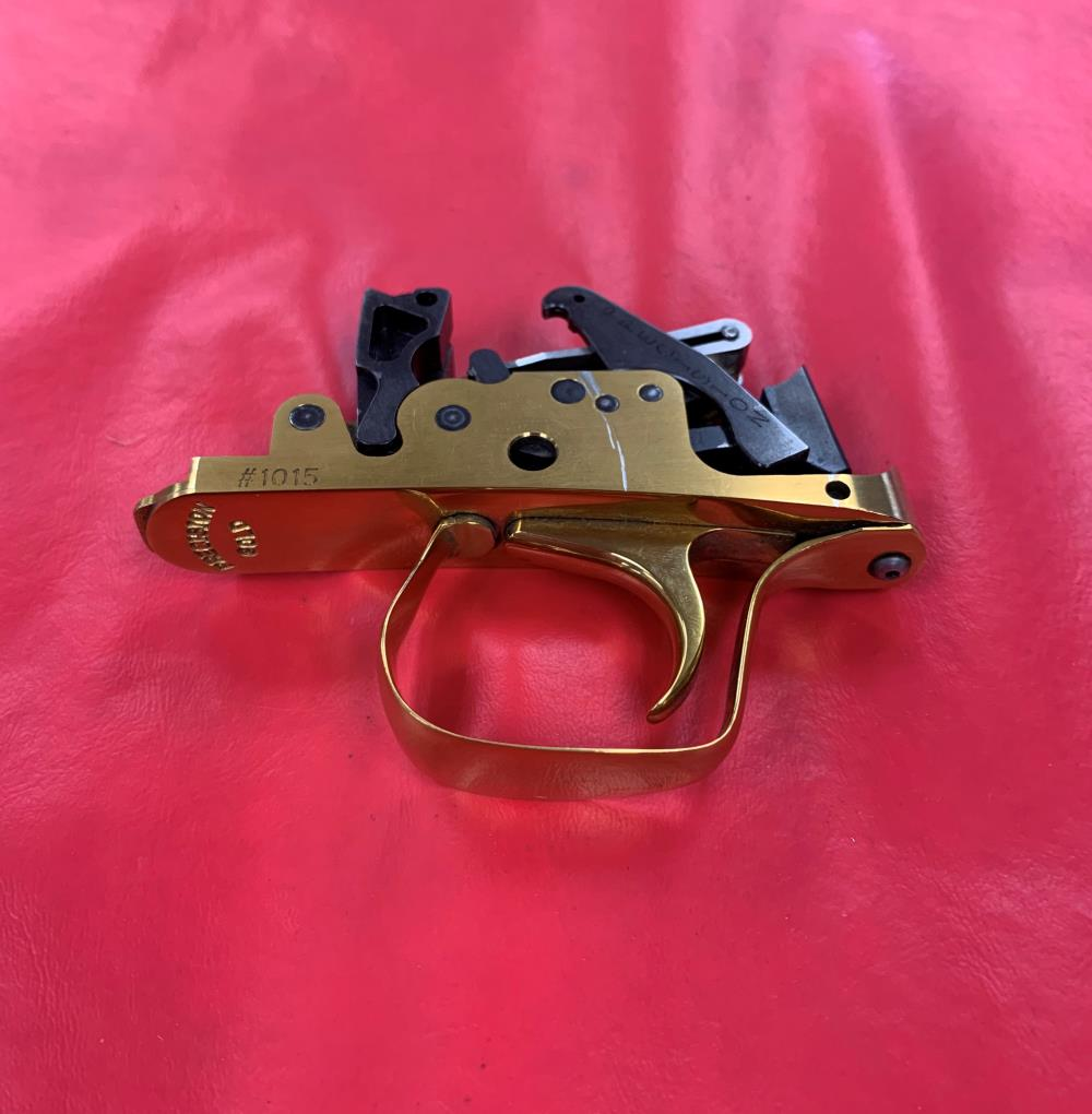 PRECISION GOLD DOUBLE RELEASE LEAF SPRING TRIGGER GROUP - Pre-owned