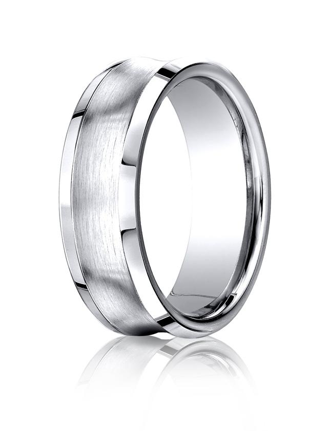 Cobalt Chrome 7 5mm Comfort Fit Band By Benchmark Cf67555cc At Hayden Jewelers Syracuse Ny